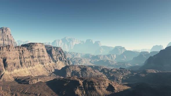 Thumbnail for Flying On Mars Mountain 05 4K