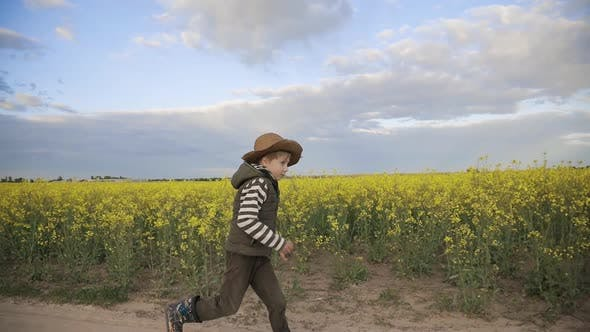 Thumbnail for Farmer Boy in the Hat Runs