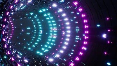 Neon Light VJ Tunnel Loop 4K