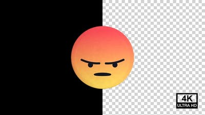 Angry Facebook Reaction Emoji 4K