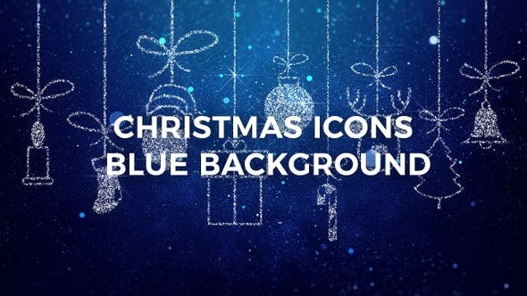 Thumbnail for Merry Christmas Icons Blue Background