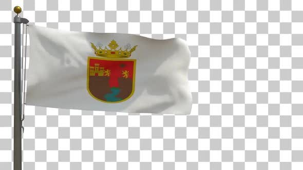 Chiapas-Flagge auf Fahnenmast mit Alphakanal