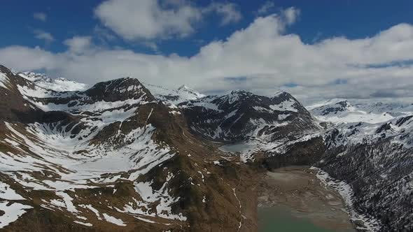 Thumbnail for Aerial View on Snow-capped Mountains