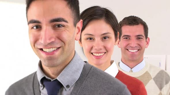 Thumbnail for Portrait of three business partners