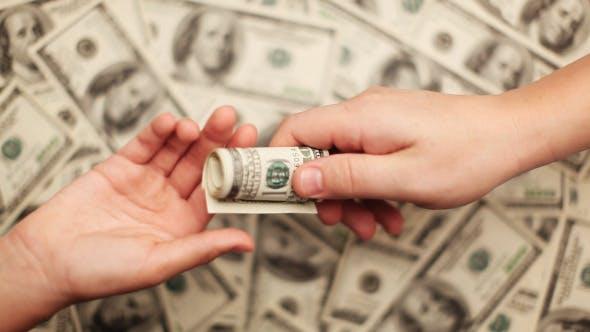 Thumbnail for Geld - Viele Hundert Dollar Scheine