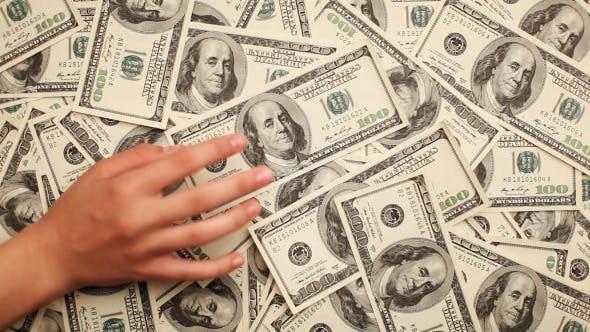 Thumbnail for Hintergrund von Hundert Dollar-Scheine