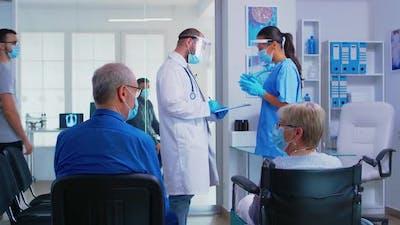 Medical Team with Face Mask Against Coronavirus