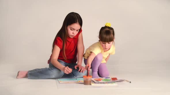 Girl Learning To Draw