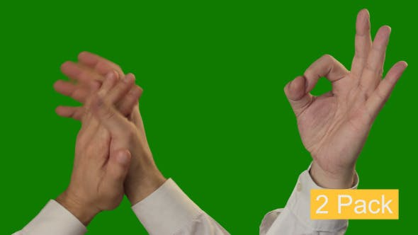 Thumbnail for Gestures On Green Chroma Key (2-Pack)