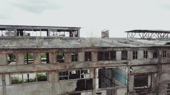 Thumbnail for Drone Flies Over an Abandoned Factory.