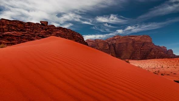 Thumbnail for Wadi Rum Desert Landscape at Sunset Jordan