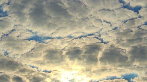 Cloud Timelapse Sun Rays Through Cloudy Sky