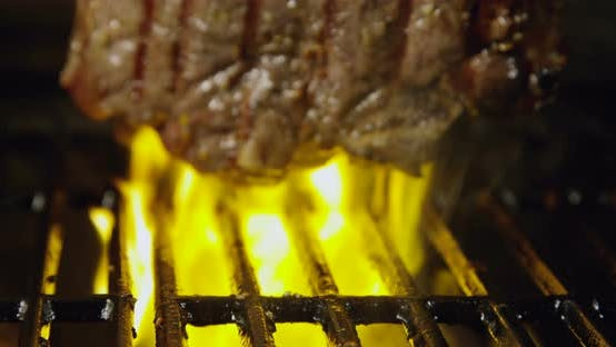 Thumbnail for Porterhouse Steak Barbecue On Flames 41b