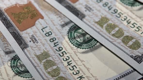 Thumbnail for One Hundred Dollars Banknotes Macro.