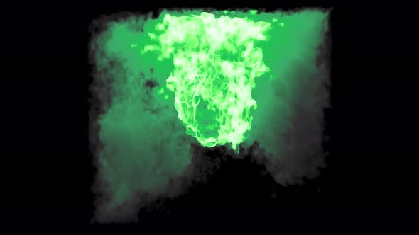 Thumbnail for Fireball Trapped In Cube Green