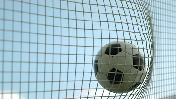 Thumbnail for Football Flying to Goal Day 4k