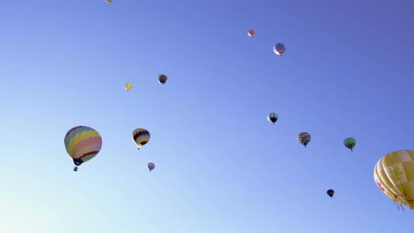 Thumbnail for Collection of hot air balloons