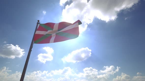 Thumbnail for Basque Flag on a Flagpole V4 - 4K