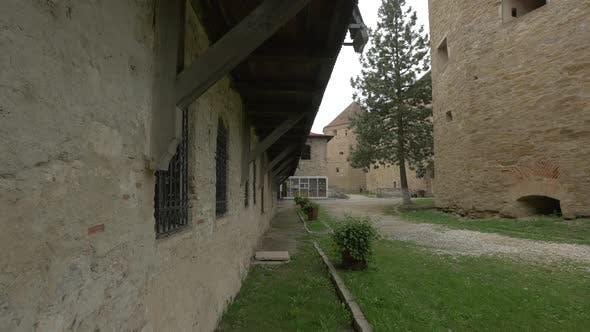 Old Brick Wall at Fagaras Fortress