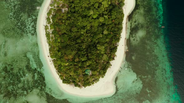 Thumbnail for Tropical Island with Sandy Beach. Mantigue Island, Philippines