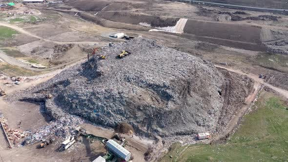Thumbnail for Flying Over a Large Landfill
