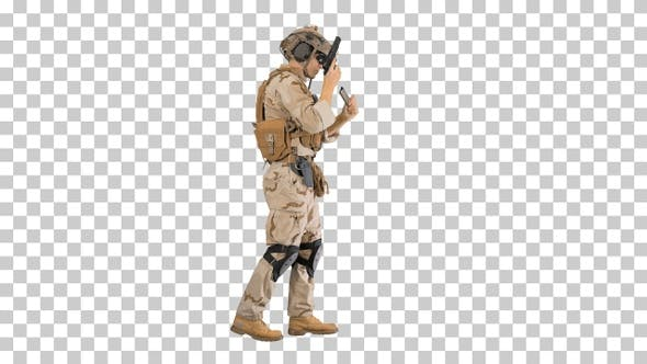 Thumbnail for Special operations training Soldier walking, Alpha Channel