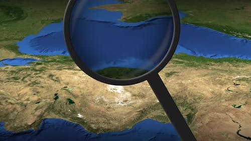 Magnifying Glass Finds Ankara City on the Map