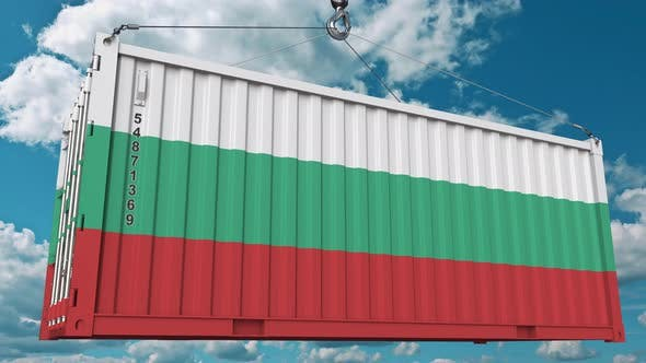 Thumbnail for Container with Flag of Bulgaria