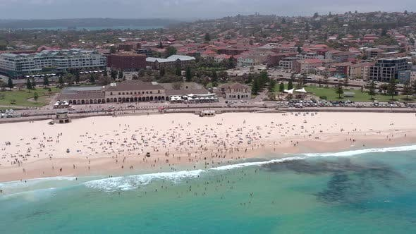 Bondi Beach a Famous Surfing Spot Close to Sydney From the Air