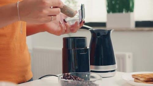 Using Coffee Grinder