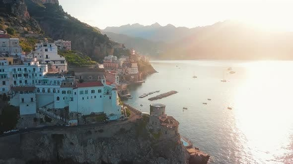 Thumbnail for Atrani Aerial By Dawn, Amalfi Coast