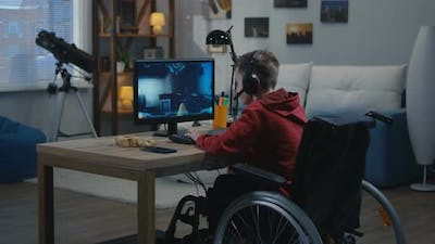 A Young Disable Gamer