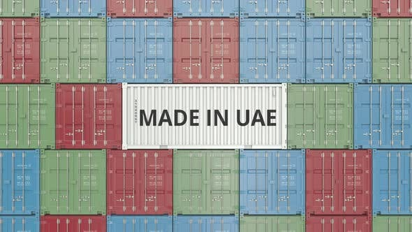 Cover Image for Container with MADE IN UAE Text