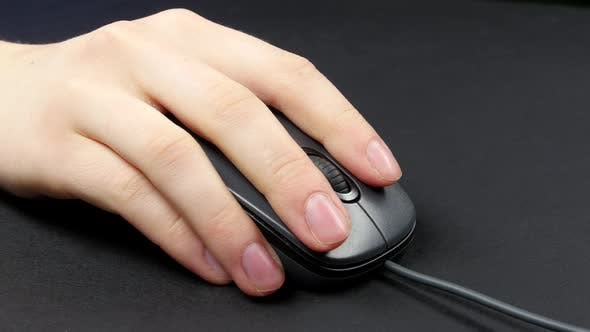 Thumbnail for Person Hand on Mouse, Black, 2 Pack