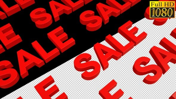 Thumbnail for Red Sale Text With Alpha Channel Loops Pack V1