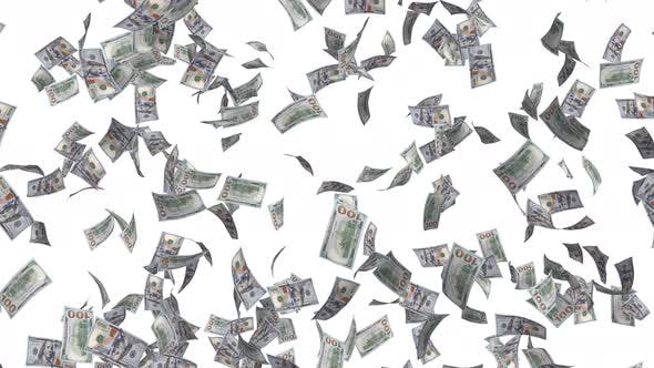 Cover Image for Money Rain Dollar Bills Falling