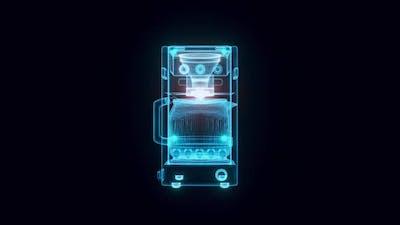 Coffee Maker Hologram 4k