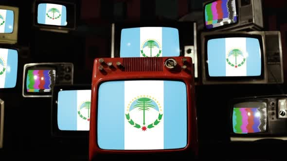 Thumbnail for Flag of Neuquen Province of Argentina, and Retro TVs.