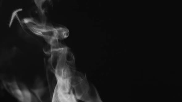 Thumbnail for Background Smoke, Steam Swirling On A Black