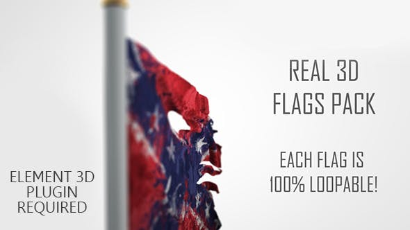 Thumbnail for Real 3D Flags pack