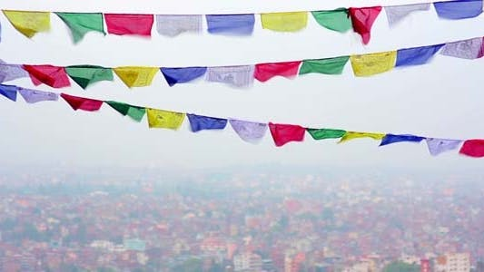 Thumbnail for Buddhist Prayer Flags in Kathmandu, Nepal