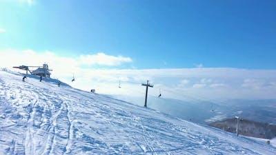 Ski Slope Aerial View