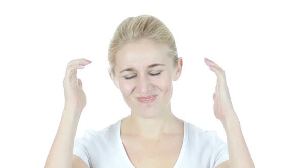 Thumbnail for Loss , Woman Reacting To Failure , Stress, White Background