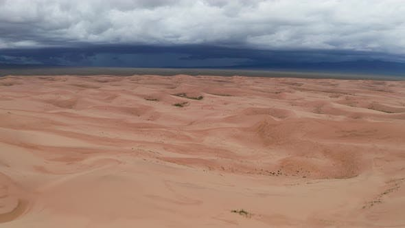 Thumbnail for Storm Clouds Over Sand Dunes in the Desert