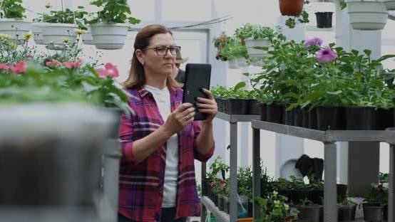 Thumbnail for Female Gardener Taking Photo in Greenhouse