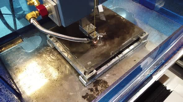 Thumbnail for Electroerosive CNC EDM Machine in the Process.