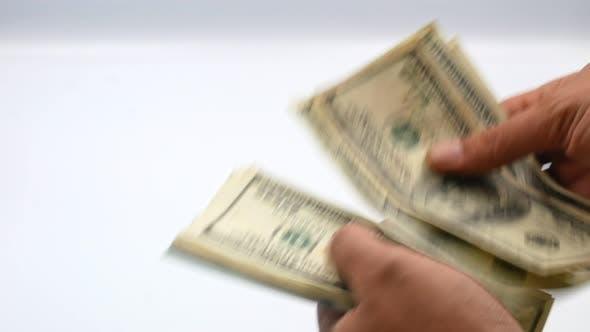 Thumbnail for One Hundred US Banknotes. Cash. Hundred Dollar, 100 Dollar