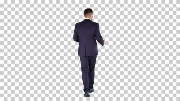 Thumbnail for Geschäftsmann Gehen und Überwachung der Plan des Hauses Alpha