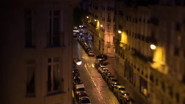 Thumbnail for - Timelapse of Morning Coming in Paris, View To the Street