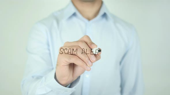Thumbnail for Scam Alert, Writing On Screen